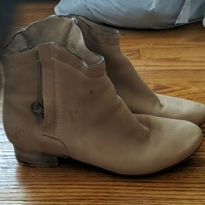 Tan Sam Edelman Side Zip Booties